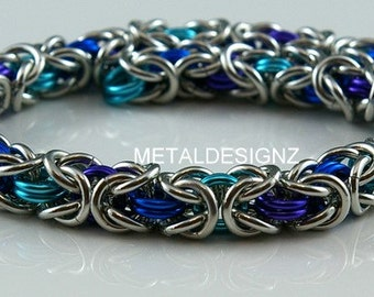Byzantine Chainmail Bracelet Kit - Makes 10 inches of chain