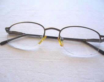 Reading glasses andesite tone/ metal frame eyewear