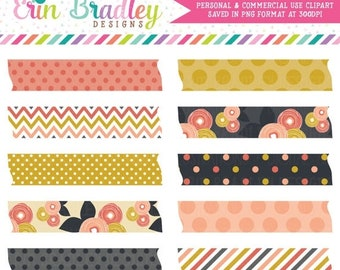 80% OFF SALE Mod Fall Washi Tape Clipart Clip Art Personal Commercial Use Instant Download