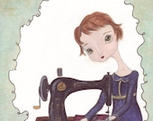 The Seamstress cute art p...