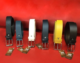 Single-Layer Leather belts