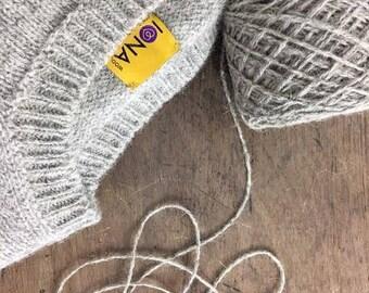 Natural Grey Iona Wool, 100% Single Origin Double Knit IW3