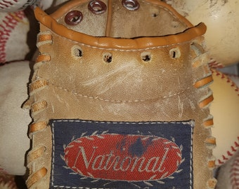 Repurposed Baseball Glove Wallet - National