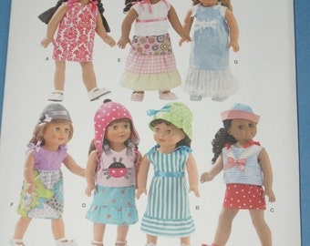 New Simplicity 18' doll Clothes Pattern 1928 OS