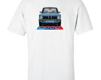 Retro Car BMW 2002 Custom Automobile T-Shirt