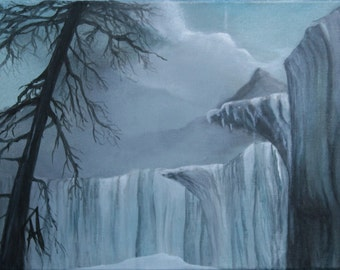 Wall of ice - winter painting