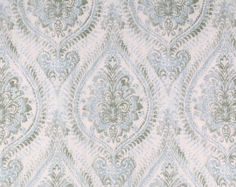 Damask Shower curtain. Olive green Seafoam Grey Cream72 x 84 108 long shower curtain. Extra wide shower curtain. Custom shower curtain