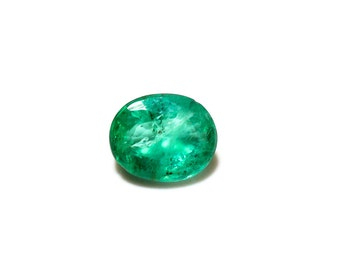 Natural Zambian Emerald Gemstone 2.2 ct with 8 x 9.50 mm