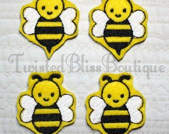 Set Of 4 Bee Felties