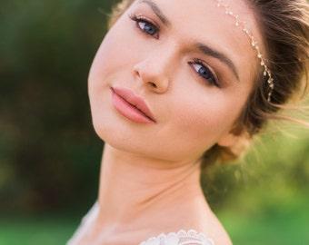 Most Delicate Hair Vine thin hair vine gold hair vine silver headband bridal headband bridal hair vine pearl headband pearl hair vine  #85