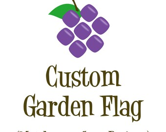 Custom Garden Flag - Made Your Way Flag, Personalized Garden Flag, Made to Match Name Banner Flag, Yard Sign, Personalized Decor Flag