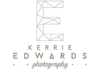 Premade Modern Geometric Monogram Logo - Photography Logo Design - 2 font logo design - Business Branding - Business Branding