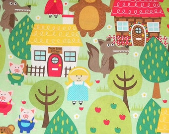 Red Riding Hood Three LIttle Pigs Wolf Children Fairytale Into the Forest by Michael Miller