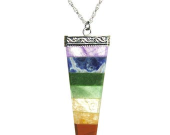 Chakra Silver Spear Necklace
