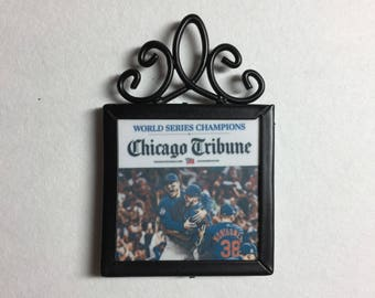 Chicago Cubs, Chicago Cubs Picture, Chicago Cubs World Series Champions, Home Decor, Chicago Cubs Magnet, Chicago Cubs Ornament