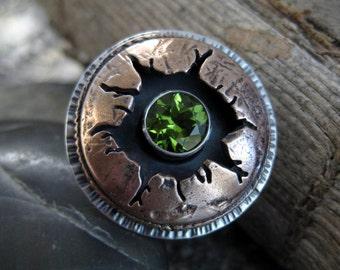 Peridot Blast Ring