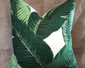 Indoor Palm Leaf Pillow Cover, Tropical Pillow Cover, Banana Leaf Pillow, Bahama Pillow Cover, Leaf Pillow Cover, Swaying Palm Pillow Cover