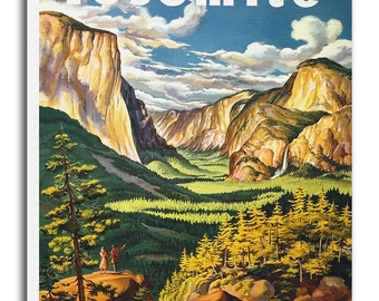 Yosemite National Park Art Canvas Print Vintage Travel Poster Hanging Retro Wall Decor xr911