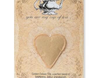 5 x Heart shaped tea bag wedding favours
