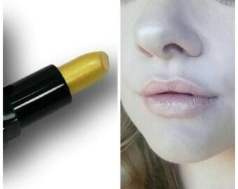 Lipstick Gold Digger Vegan Paraben Free Mineral Makeup  Pearl sparkles translucent