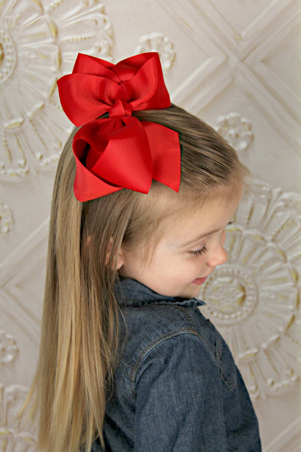 U Choose Big 6 Hair Bow Baby Girl Grosgrain Hairbow