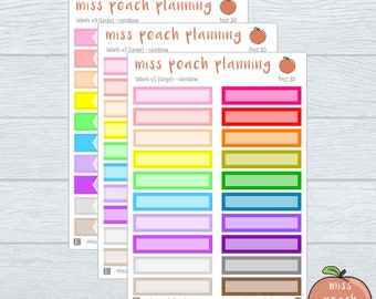 NEW - label stickers || planner stickers || fnct 30