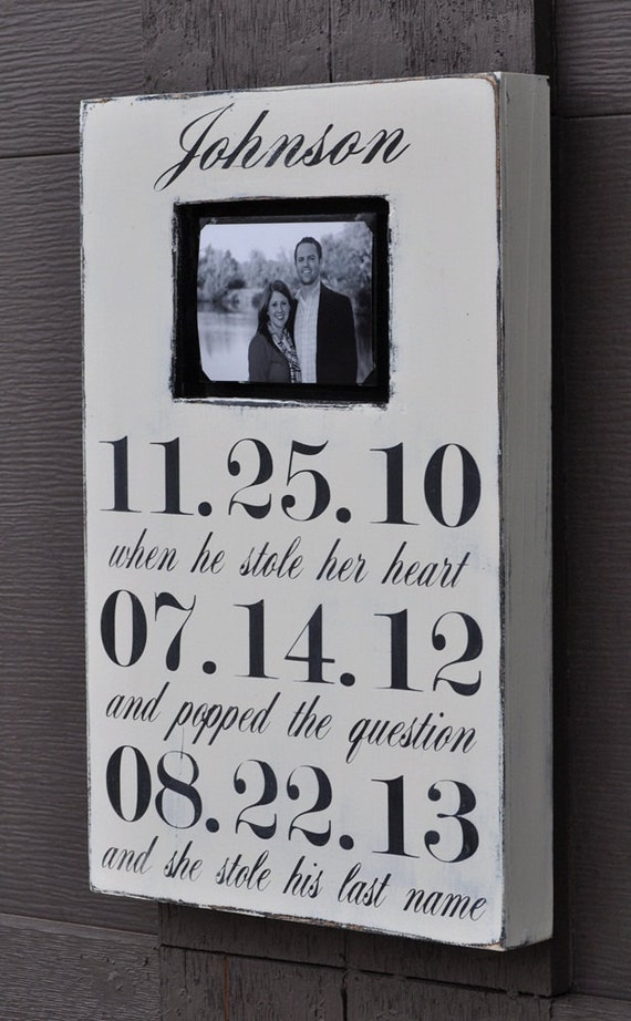 Fancy Personalized Engagement Picture Frames Embellishment - Picture ...