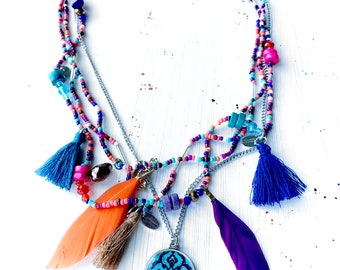 SHADI beaded necklace - layered necklace