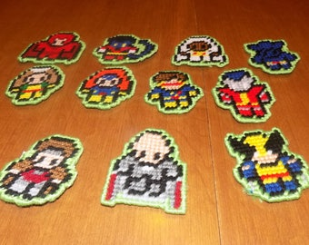 11  tiny x-man people magnets