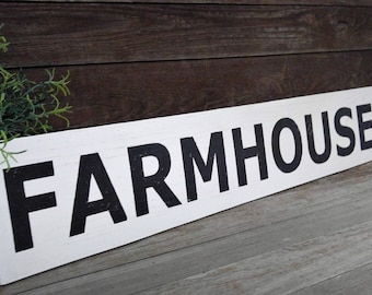 Farmhouse sign,  Farmstyle wall decor, signs, Wood signs, Fixerupper, Rustic sign,  Distressed sign, Black and White sign, Farmhouse sign