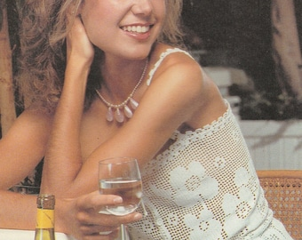 Crochet Sun Top, Crochet Pattern, Summer Top, Sizes 34-35, 36-37 inch bust, Instant Download, Womens Crochet Top, Crochet Pattern, 1970s