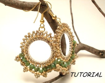 Beads pattern, Gipsy Lace earrings, Earrings pattern with seed beads and firepolish