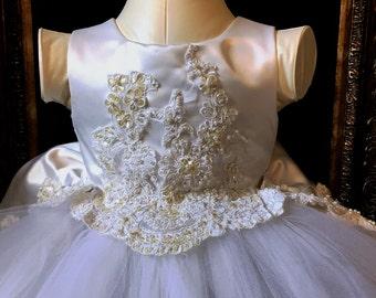 Mother's Wedding Dress  Custom mede into Flower Girl Dress