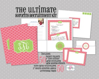 Ultimate Sorority Recruitment Recommendation Kit - Package of 50 - Sorority Rush Package