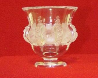 "LALIQUE France Crystal ""Dampierre"" Birds and Vines Vase"