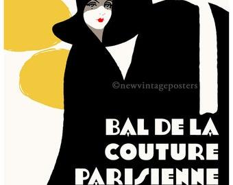Art Deco Paris Fashion 1927 giclee poster print