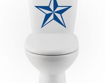 Nautical Star DECAL- Home Decor, Vinyl Wall Art, Shower, Bathroom, Interior Design, toilet