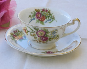 Cup and Saucer - Occupied Japan - Hira China - Vintage - Free Teaspoon