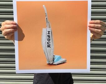 """I Suck - digital art print 12""""x12"""""""