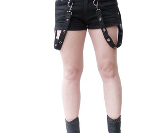 Black gothic hotpants