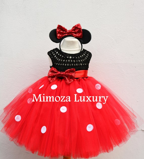Minnie mouse birthday dress, red minnie mouse outfit, 1st birthday tutu dress, minnie mouse themed party, minnie mouse ears, minnie dress