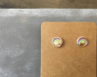 Destello Druzy Studs - Mermaid - 10MM