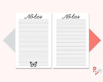 NOTES Mini Happy Planner Printable Inserts, Create 365, Happy Planner Insert, Happy Planner Mini, MAMBI Planner, Instant Download