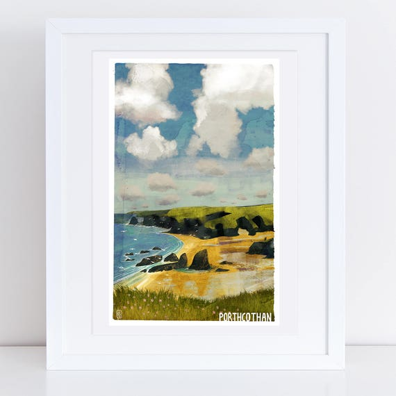 Porthcothan - Signed Cornish Coasts Giclee Print