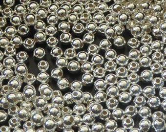 20 pcs Sterling silver beads -3mm beads -