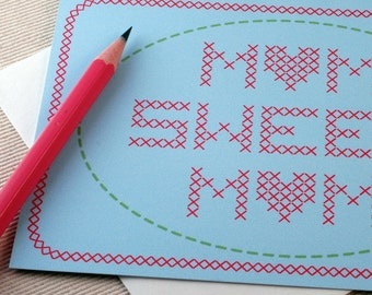 Mothers Day Card - Mom Sweet Mom by Oh Geez Design