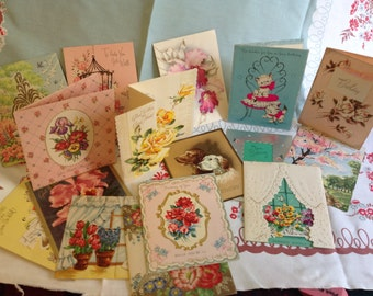 Collection of 16 Vintage Greeting Cards - Unused
