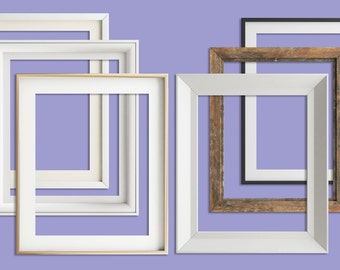 Digital picture frames, 8x10 frames, digital frame clipart, 6  frames includes gold , black, white and old wooden digital frame