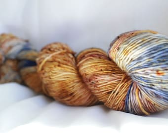 New Color way (JEWL-RIFIC) Speckled super wash merino nylon sock 100 grams 463 yds 75, 25