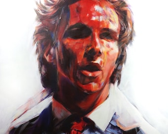 Patrick Bateman #3 from American Psycho (2000), Acrylic Painting 24 x 24in